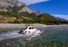 Water Beetle (rasdiggity) Tags: road mountains water car mexico beetle valley splash monterrey huasteca lahuasteca nuevoleón russellsticklor cumbresdemonterrey rasdiggity