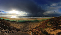 Mimizan - L'hiver approche [Explore - 2014.11.06] (Cdric Darrigrand) Tags: ocean beach clouds ciel nuages plage mimizan orage atlantique landes aquitaine