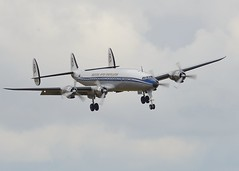 Breitling Super Constellation (Tim Spouge) Tags: show macro flying air sigma super legends duxford tele constellation 2014 breitling 400mm