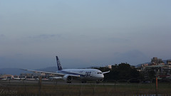 ANA, All Nippon Airways (林仁仁) Tags: canon airplane eos ii boeing f18 2014 787 飛機 松山機場 ef50mm dreamliner 60d 全日本空輸 anaallnipponairways 夢幻客機 thetaipeisongshanairport