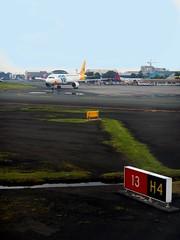 Manila Aerodrome (RPLL/MNL) - Hotel 4 (Mark Obusan) Tags: atc caap 4 landing 350 200 airbus manila 13 clearance takeoff runway hold ato departing mnl a320 lineup aerodrome airtraffic airtrafficcontrol kingair a319 cleared intersecting h4 1331 0624 f1a f1b cebupacific holdingpoint holdshort rpll runway13 rwy13 lineupandwait