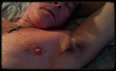 Monte Mendoza lounging 11 23 2014 (Monte Mendoza) Tags: shirtless man guy pits nipple cross dude christian uomo hombre homme ua noshirt armpits pecho sanschemise underarms axila sincamisa