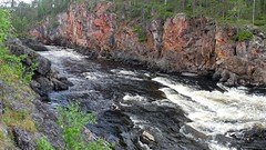 River Oulankajoki at Rapid Kiutakngs (Oulanka national park, Kuusamo, 20140708) (RainoL) Tags: summer panorama cliff finland river geotagged nationalpark ks july gorge kuusamo fin rapid stitched precipice 2014 karhunkierros kiutakngs oulankanationalpark koillismaa oulankajoki 201407 pohjoispohjanmaa 20140708 geo:lat=6636848722 geo:lon=2933188383