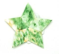 Fujimoto pentagon Rosette 33 front (Pliages et vagabondages) Tags: star origami rosette pentagon décoration déco étoile fujimoto pentagone