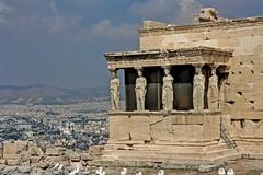 UNESCO - Athens - Porch of the Caryatids (Rik Tiggelhoven) Tags: world heritage canon temple photography eos site athens unesco parthenon greece acropolis rik erechtheion 1000d tiggelhoven