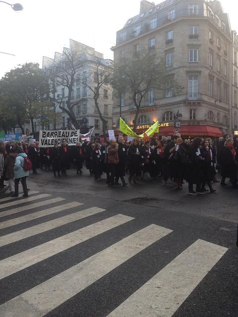 Manifestation des professions réglementées contre le projet de LOI MACRON
