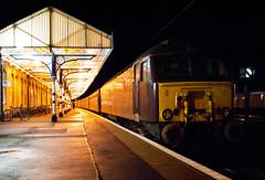 West Coast Railways Class 57 57313 (On The Back) (Barry Duffin) Tags: york uk station architecture night train nikon diesel rail railway trains steam norwich locomotive westcoast steamtrain retford wcr ecml 60009 class57 57313 d3000