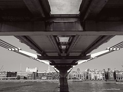 Can you see St Pauls? (Dave Lockwood DA12) Tags: bridge london thames riverside millenniumbridge southbank fujifilm riverthames x20