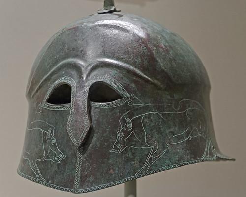 Bronze 'Apulo-Corinthian'- type helmet in Cleveland 1