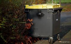Gesichert! (joli_2009) Tags: trash container trashcan recycling gelbetonne angekettet mllcontainer gesichert