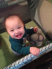 Baby solved the puzzle! (hyprsleepy) Tags: baby cute girl asian infant korean portal companioncube