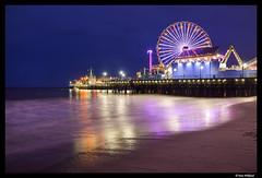 Blue hour at Santa Monica pier (Dan Wiklund) Tags: ocean california longexposure sea usa water evening pier losangeles santamonica ferriswheel bluehour d800 2014 pacificsea