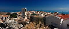 (tozofoto) Tags: city travel houses sea italy holiday travelling tower history colors architecture canon lights europe cityscape shadows view viewpoint oldcity adriatic foggia montesantangelo tozofoto