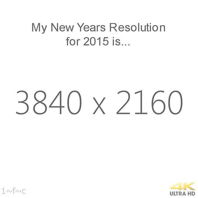New years resolution #2015