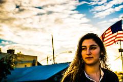 (NiePhotography) Tags: light sunset arizona portrait sky woman cloud sun color colors phoenix beautiful clouds lights golden evening photo model warm skies glare desert bright cloudy overcast hour setting