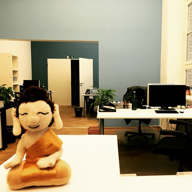 First day in #office after Christmas and New Years holidays. Wish you all a good start into the new week. Greetings from #Berlin #Germany #littlebuddha #littlebuddhaadventures #buddha #adventure
