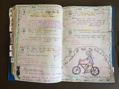 Planner May 9-13 (trishahillery) Tags: urban pencils sketch education library diary journal plan read teacher doodle colored draw poe planner each illustation