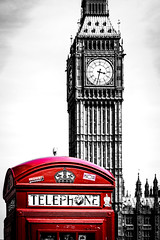 RED London I (Matthieu Manigold) Tags: red color london big nikon phone ben selective londre i