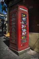 Signs of the times (zolaczakl ( 2 million views, thanks everyone)) Tags: uk red england southwest bristol graffiti stickers may 2016 stnicholasmarket telephoneboxes nikond7100 photographybyjeremyfennell sigma1835mmf18dchsmlens