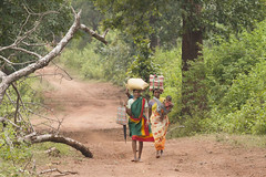 On their way to Koleng market (wietsej) Tags: park india zeiss way is women market sony national jungle 135 their middle 18 on situated a700 kangar chhattisgarh ghati bastar sal135f18z koleng