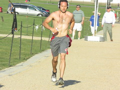 IMG_0738 (FOTOSinDC) Tags: shirtless hairy man muscles back arms arm legs candid chest leg handsome running sweaty sweat guns jogging runner jogger