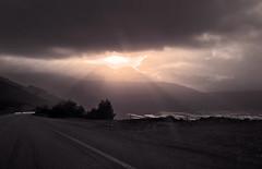 Every cloud has a silver lining (VillaRhapsody) Tags: sea sun sunlight mountains clouds turkey landscape mediterranean driving patara ka challengeyouwinner
