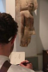 De l'art et du crayon (Pi-F) Tags: statue muse dessin crayon egypte carnet tudiant esquisse gyptien lecaire