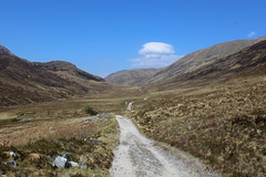West Highland Way below the Mamore Hills (Walruscharmer) Tags: scotland path glen invernessshire oldmilitaryroad nationaltrail highlandscene mamorehills