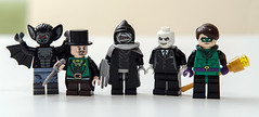 Lego Batman: A bit of Green and Black (Mr_Red_2001) Tags: dc lego scarecrow batman riddler madhatter greatwhiteshark manbat