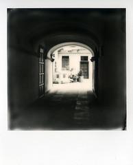 Cortile (Valt3r Rav3ra - DEVOted!) Tags: blackandwhite bw polaroid streetphotography biancoenero alessandria impossible polaroidsx70 analogico instantfilm urbanvisions visioniurbane valt3r valterravera