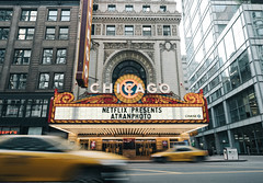 Marquee (Alexander Tran | atranphoto.com) Tags: street city chicago marquee theater cityscape theatre metro broadway chitown taxis fujifilm netflix xpro2 atran atranphoto atranfoto fujifilmxus