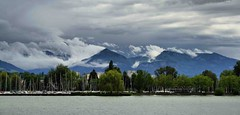 Lake Constance (Dublin.Linda) Tags: travel trees sky lake holiday alps water clouds germany t austria constance