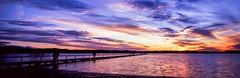LJ 1 (Dusty Dog Imaging) Tags: sunset panorama seascape film water landscape coast fuji jetty central australia panoramic velvia nsw g617