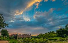Blickling Sunset (Faustusk) Tags: sunset sky panorama building history canon garden landscape outdoors eos evening pano norfolk sigma drama nationaltrust hdr blickling jacobean