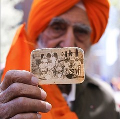 """Beautiful Capture """"This was my hockey team. I was the goalkeeper."""" ~ just an amazing and powerful capture by @humansofny today during #vaisakhi celebrations in New York.  Sometimes we forget of the history, the memories, that (sikhexpo) Tags: sikh punjab sikhism punjabi singh kaur sikhi sikhexpo"""
