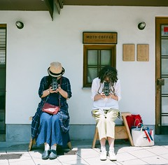 Friends from South and East. (Saori_) Tags: 120 film japan rolleiflex