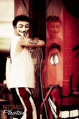 Remember, Remember the Fifth of November (Massimo Nittardi) Tags: red newyork coneyisland mask guyfawkes coneyislandsmermaidparade