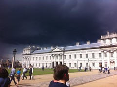 Greenwich - storm brewing (gilesbooth) Tags: london greenwich navalcollege clouds darkclouds