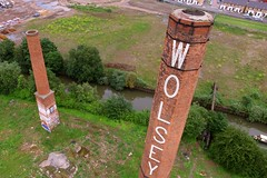 Wolsey Factory (Sam Tait) Tags: wolsey factory site derelict abandoned gone mothballed leicester industrial industry river soar uav drone quadcopter dji phantom 3 standard chimney