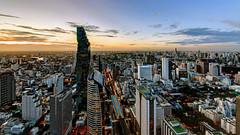 Downtown Dusk / Bangkok (I Prahin | www.southeastasia-images.com) Tags: city urban buildings river thailand downtown cityscape skyscrapers dusk bangkok bts tallestbuilding sathorn skyhigh chongnonsi mahanakorn