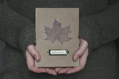 Botanica series  Maple (asyasan) Tags: diary journal books bookbinding herbarium handmadejournal handboundjournal moroshkabooks