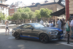 Ford Mustang (Jusotil_1943) Tags: pelirroja gente coches cars bluecars pokemon