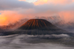 Mount top hill (narenrit) Tags: bromo mountain mist light sun sunrise cloud sky morning valcano tree view beauty hill top scenic indonesia tropical asia asian east cliff travel trip mount sapatate different village country