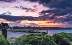 Red Dawn (nicklucas2) Tags: seascape beach groyne lowtide sea sand seaside avonbeach dawn cloud
