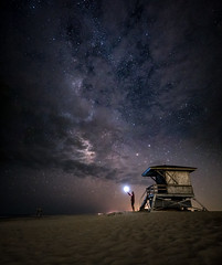 Returning Home (dwissman.photography) Tags: milkyway stars astrophotography night beach surf assateague lifeguard sand garyfong strobe