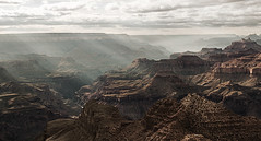 Hazy sunbeams at the Grand Canyon (Juan-Carlos Munoz-Mateos) Tags: grandcanyon landscape sunbeam desert moody rocks outdoor hiking arizona nationalpark