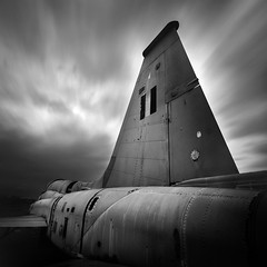 Retired (ilias varelas) Tags: aircraft sky light longexposure landscape ilias varelas clouds blackandwhite bw exposure atmosphere greece structure