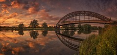 River Eye (Captain Nikon) Tags: sunset reflections pipebridge sawley shardlow rivertrent river derbyshire stitched panoramic moods nikon18105mm nikon nikond7000 eye