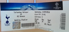 Tottenham vs Monaco Ticket (che1899) Tags: tottenham hotspur spurs wembley championsleague