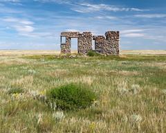 Turner Stone House, Cessford, Alberta [Explored] (WherezJeff) Tags: homestead house summer abandoned ruin stone wardlow alberta canada ca fieldstone